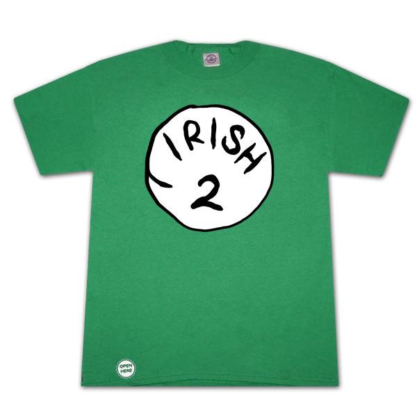 Irish 2 Bottle Opener Green Graphic TShirt