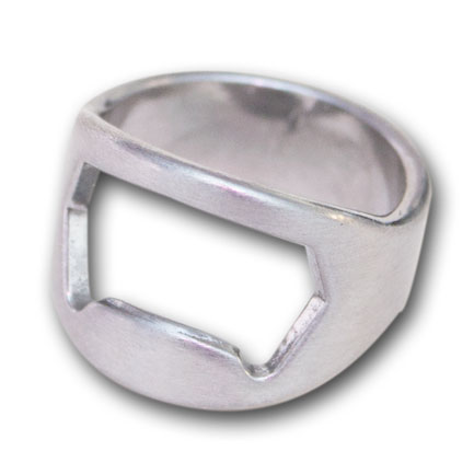 Bottle Opener Ring Stainless Steel