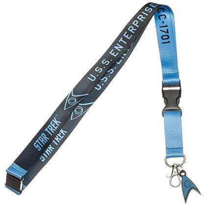 Star Trek Blue Keychain Lanyard