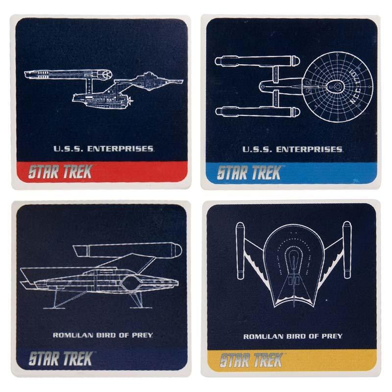 Star Trek Ceramic Coaster Set