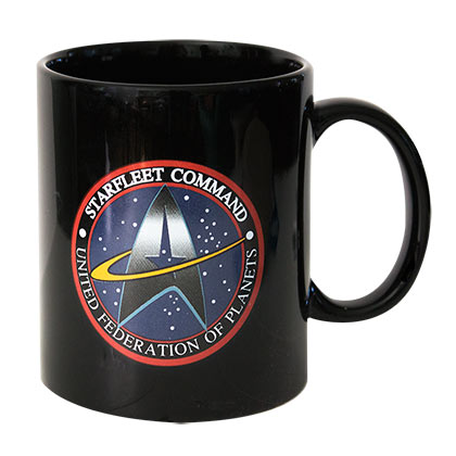 Star Trek Black Starfleet Command Logo Mug