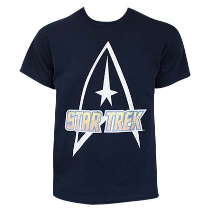 Star Trek Logo Men's Navy Blue T-Shirt