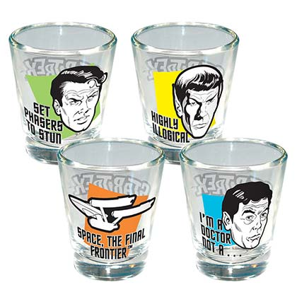 Star Trek 4 Pack Shot Glass Set