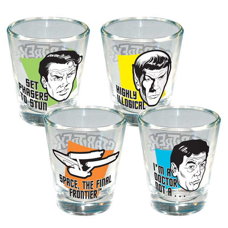 Star Trek Shot Glass Set of 4