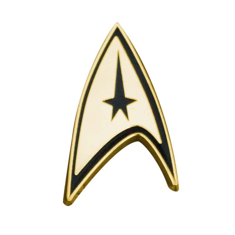 Star Trek Logo Gold Lapel Pin Tvmoviedepot