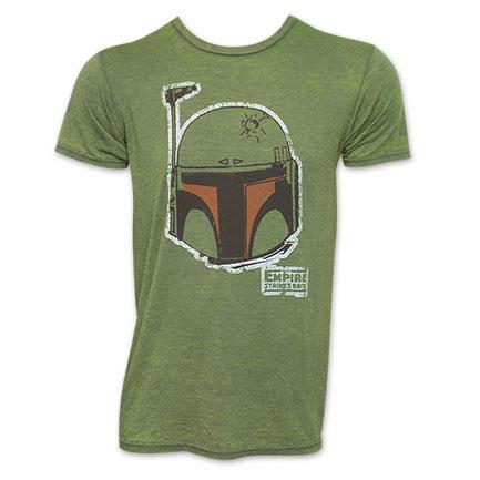 Star Wars Green Boba Fett Face Tee Shirt