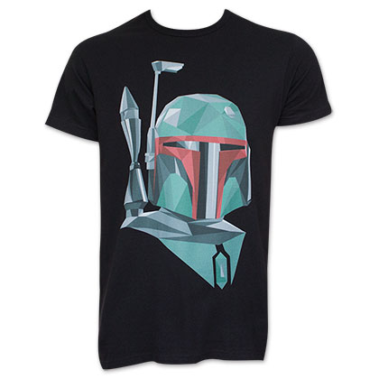 Star Wars Boba Fett Head Black T-Shirt