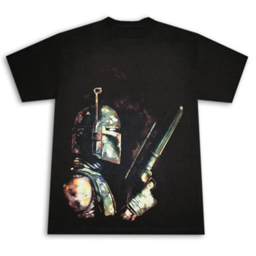 Star Wars Bounty Hunter Boba Fett Black Graphic Tee Shirt