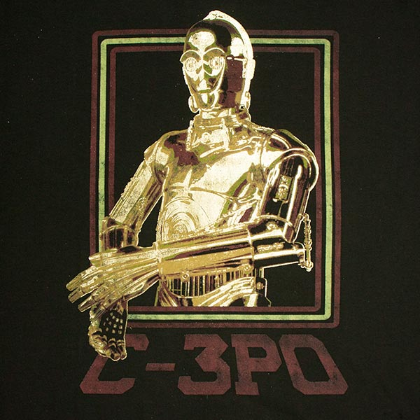 Star Wars Men's C-3PO Gold Foil T-Shirt