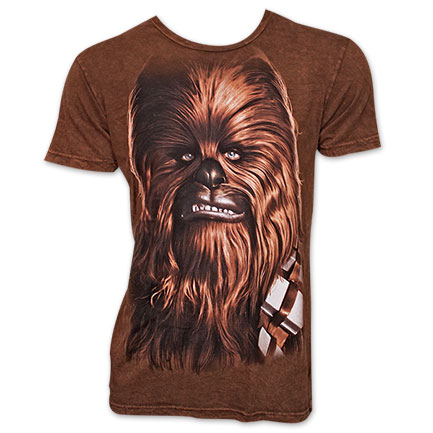 Star Wars Big Chewbacca Face T Shirt - Brown