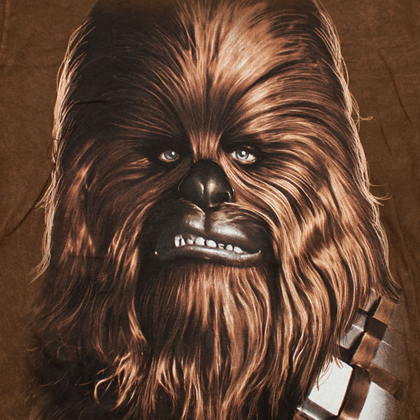 Star Wars Big Chewbacca Face Tee Shirt - Brown