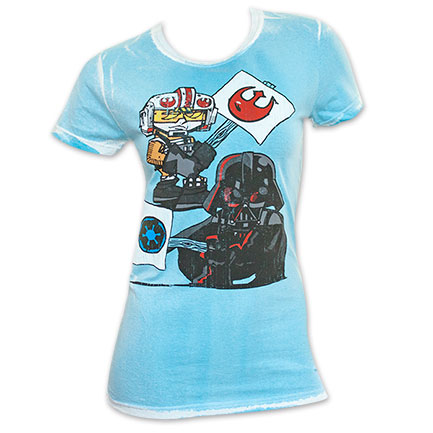 Star Wars Women's Blue Protest Sign Tee Shirt