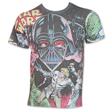 Star Wars Battle With Vader All Over Print TShirt - White