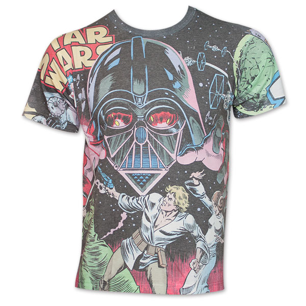 eb58a32c item was added to your cart. Item. Price. Star Wars Battle With Vader All  Over Print TShirt ...