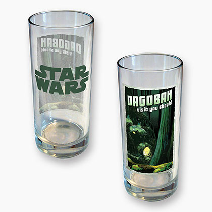 Star Wars Dagobah 15 Ounce Drinking Glass
