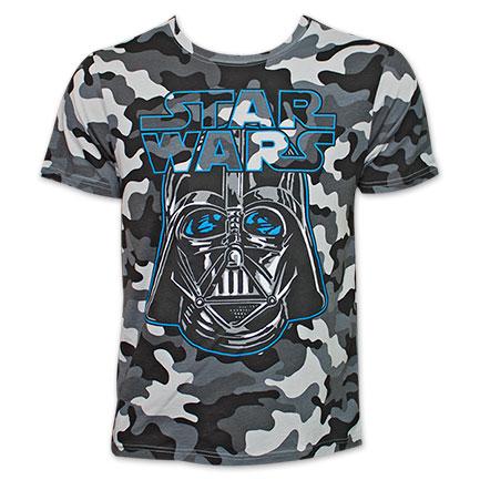 Star Wars Darth Vader Camo Tee Shirt - Gray