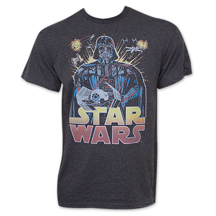 Star Wars Retro Darth Vader Logo Tee Shirt