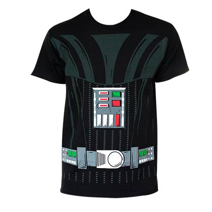 Star Wars Boys Black Darth Vader Costume T-Shirt
