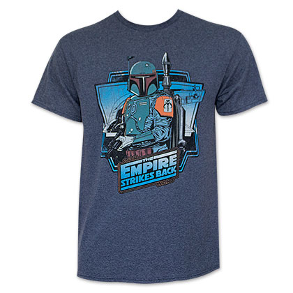 Star Wars Men's Blue Boba Fett Empire Strikes Back T-Shirt