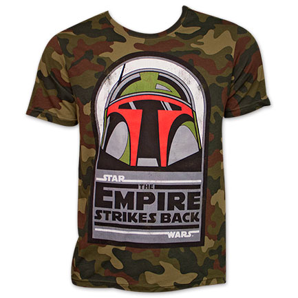 Star Wars Boba Fett Empire Strikes Back TShirt - Camo