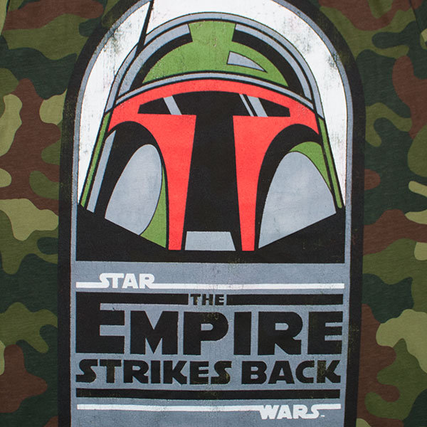 Star Wars Boba Fett Empire Strikes Back Tee Shirt - Camo