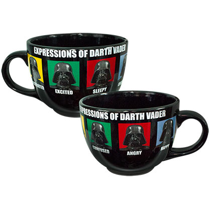 Star Wars Large Black Darth Vader Expressions Mug