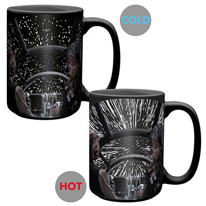 Star Wars Black Color Changing Millennium Falcon Mug