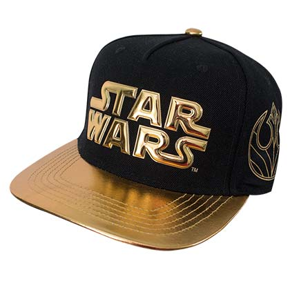 Star Wars Gold Logo Brim Men's Baseball Cap