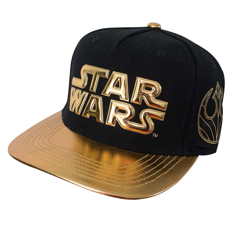 Star Wars Gold Title Logo Brim Men's Baseball Cap
