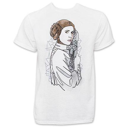 Star Wars White Men's Princess Leia Gun TShirt