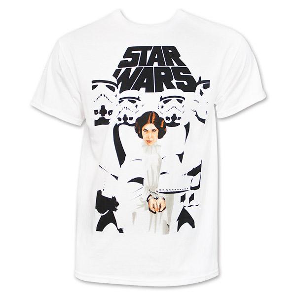White Set To Stun Star Wars Princess Leia Tee Shirt ... Old Princess Leia Shirts