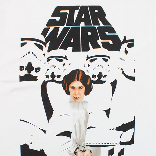 Men's White Princess Leia Star Wars Set To Stun TShirt