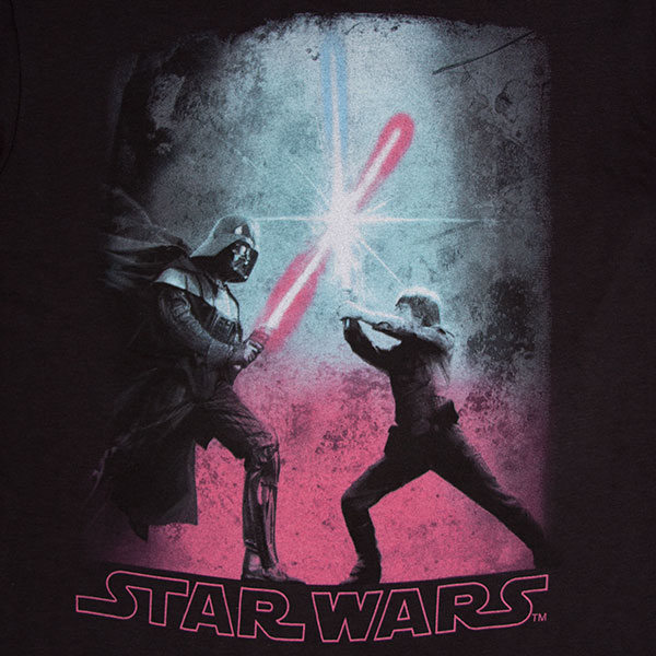 Star Wars Black Darth Vader Duel TShirt