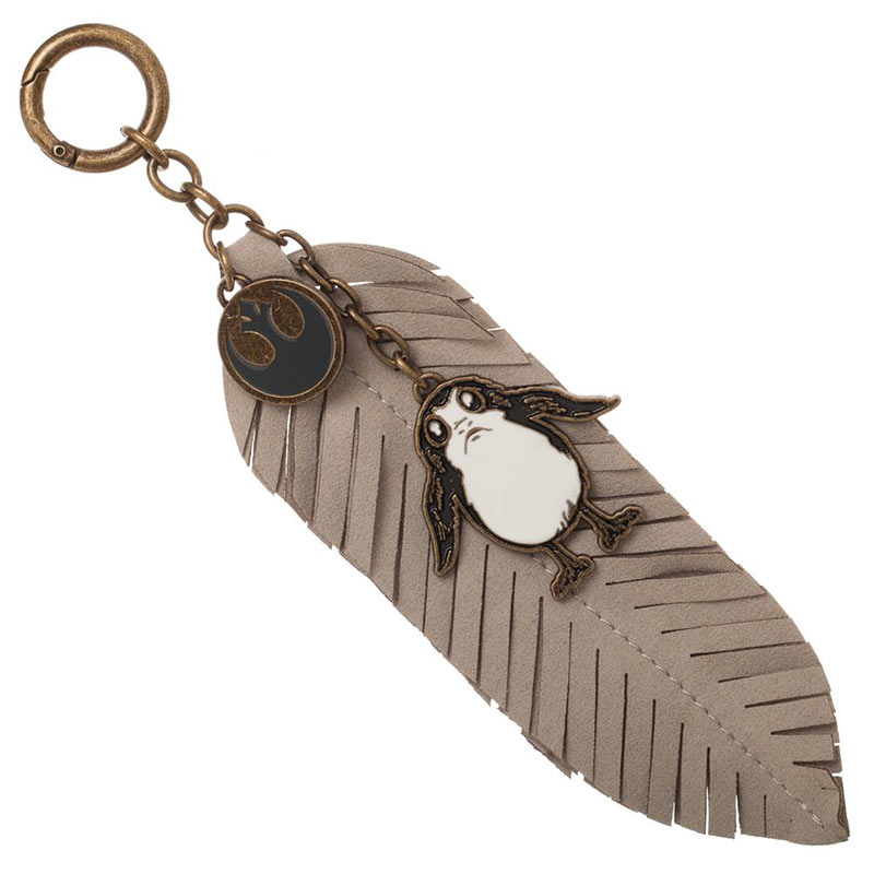 Star Wars Episode 8 Porg Feather Leather Keychain