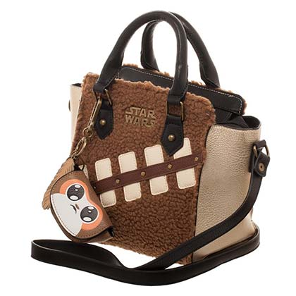 Star Wars Fuzzy Chewbacca & Porg Episode 8 Handbag