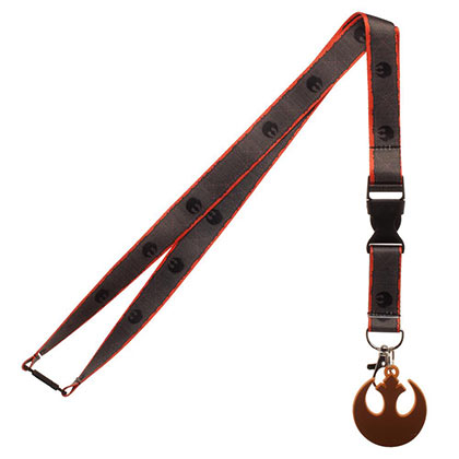 Star Wars Episode 8 Grey Rebel Lanyard