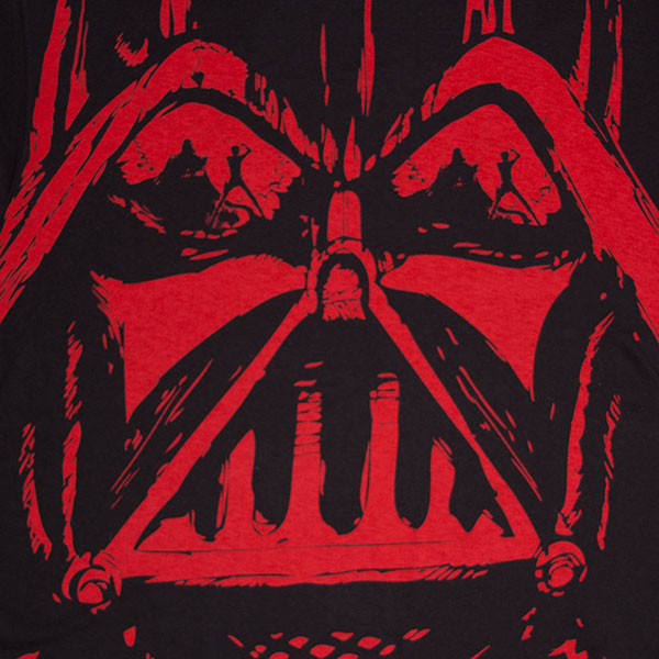 Star Wars Black And Red Dueling Reflection Darth Vader TShirt