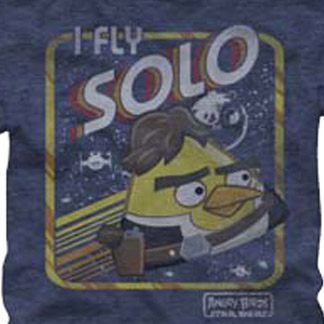 I Fly Solo Star Wars Angry Birds T Shirt
