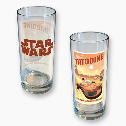 STAR WARS TATOOINE 15 OZ GLASS PLACEHOLDER