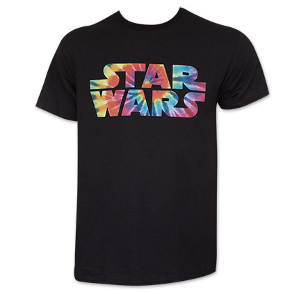 Star Wars Men's Black Tie Dye Logo T-Shirt