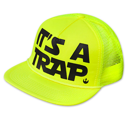Star Wars Neon Yellow It's A Trap Trucker Hat