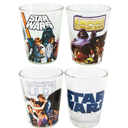 Star Wars Film Trilogy Shot Glass Set Of 4