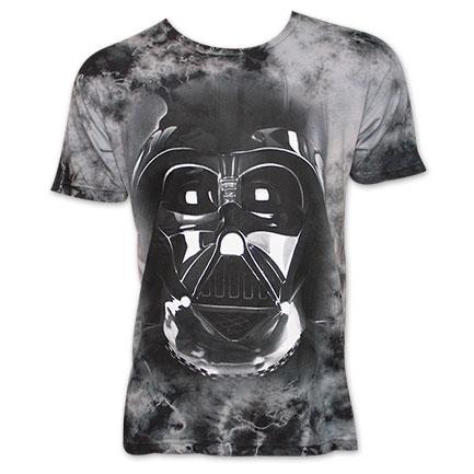 Star Wars Darth Vader Helmet Mineral Wash Tee Shirt - Gray