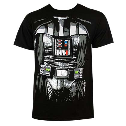 Star Wars Men's Black Darth Vader Costume T-Shirt