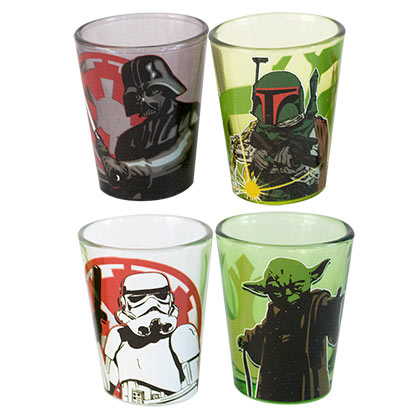 Star Wars Four Pack Shot Glass Set