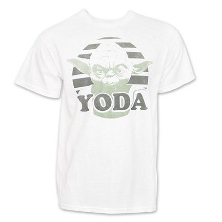 Serious Yoda Face Star Wars White Men's TShirt