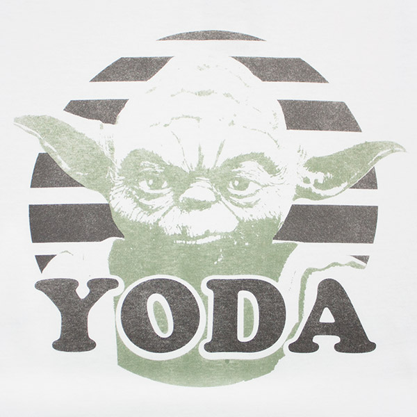 Serious Yoda Face Star Wars White Men's TShirt