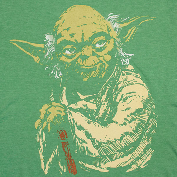 Star Wars Master Yoda Green Force TShirt