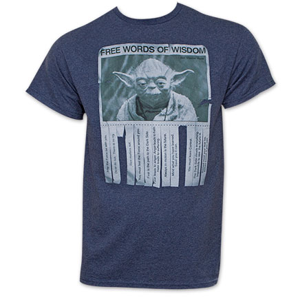 Star Wars Men's Words Of Wisdom Tee Shirt