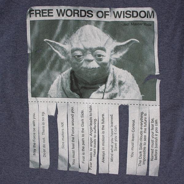 Star Wars Blue Yoda Words Of Wisdom TShirt